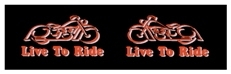 HAR-007- Harley Live to Ride Decal
