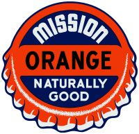 "Mission Orange Decal - 9.5"" x 10"""