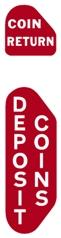 STO-009 - Coin Return/Deposit Coins Decals