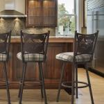 Buy Trica S Creation Swivel Bar Stool W Palm Trees Wine Backs