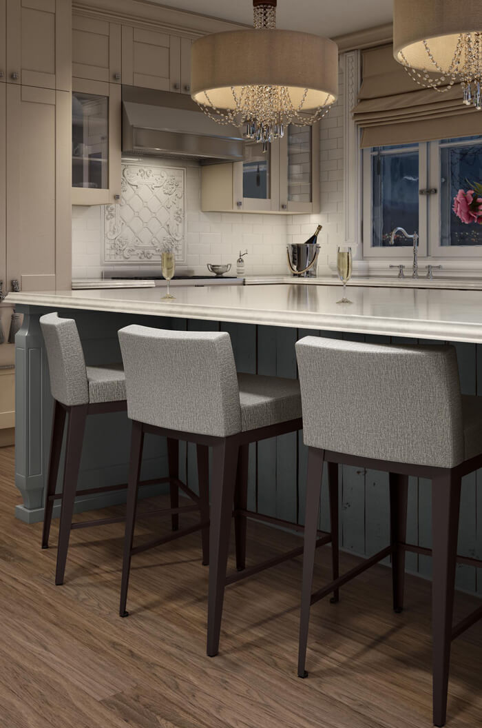 Buy Amisco S Ethan Modern Low Back Bar Stool Free Shipping