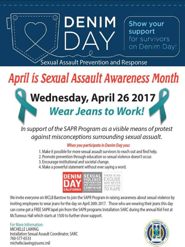 Denim Day - Wear Jeans to Work! — MCCS Barstow