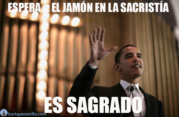 meme obama sevilla jamon