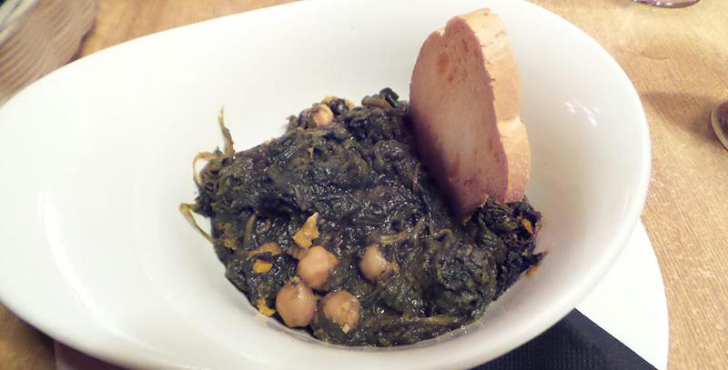 recetas de espinacas garbanzos