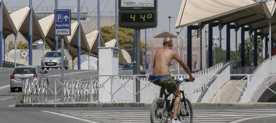 El calor del verano en Sevilla