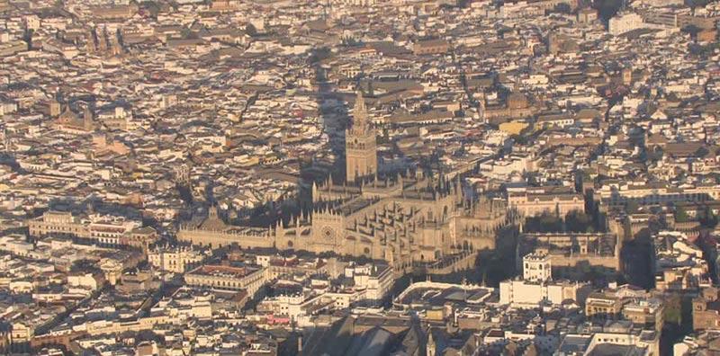 centro historico de sevilla vista aerea