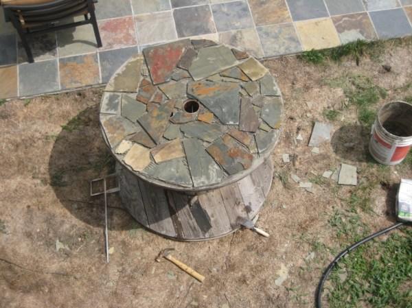 Saturday Project: Slate Tile Table Top | bartblog.