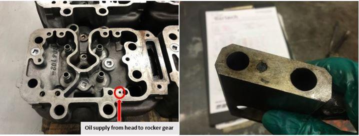 Cylinder head rocker gear