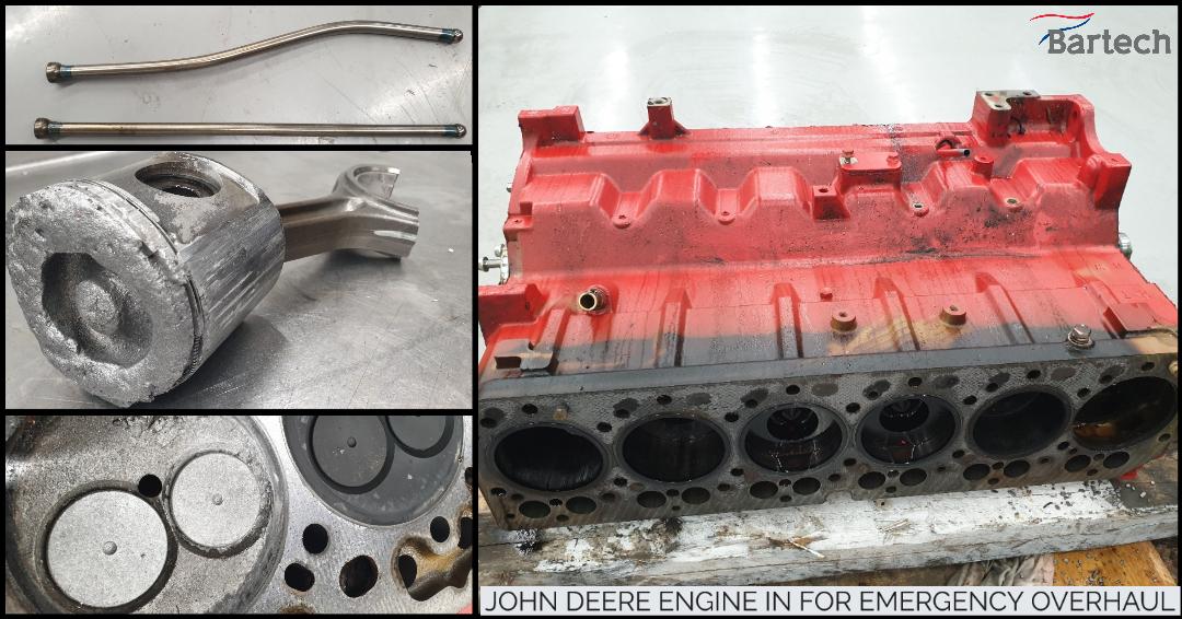 John Deere engine in for emergency overhaul(1)