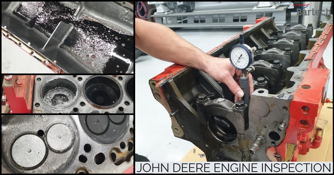John Deere engine inspection