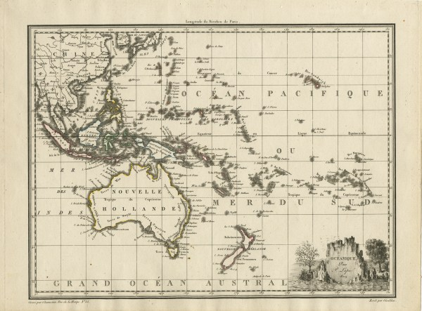 Antique Map Australasia