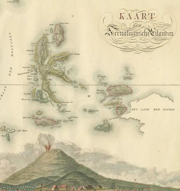 Map of The Ternate Islands