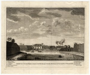 Antique Print of the Sugar Warehouse of Batavia by Valentijn (1726)