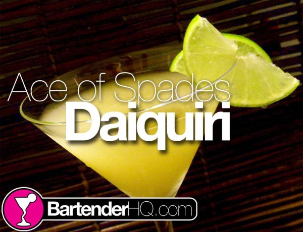 Ace of clubs Daiquiri Cocktail