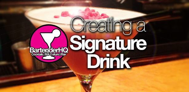 Creating a signature cocktail