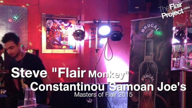 Steve Flair Monkey Contantinou at Masters of Flair 2015 Competitor #4