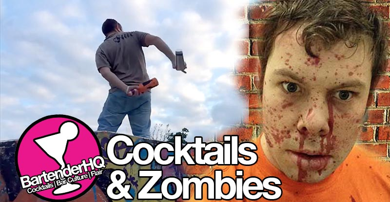 Cocktails & Zombies – 6am Flair Bartending and ScareTrack