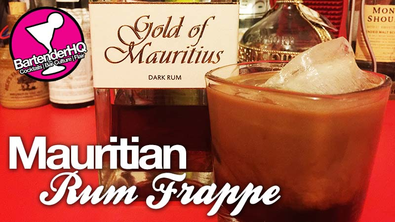 Mauritian Rum Frappe Cocktail