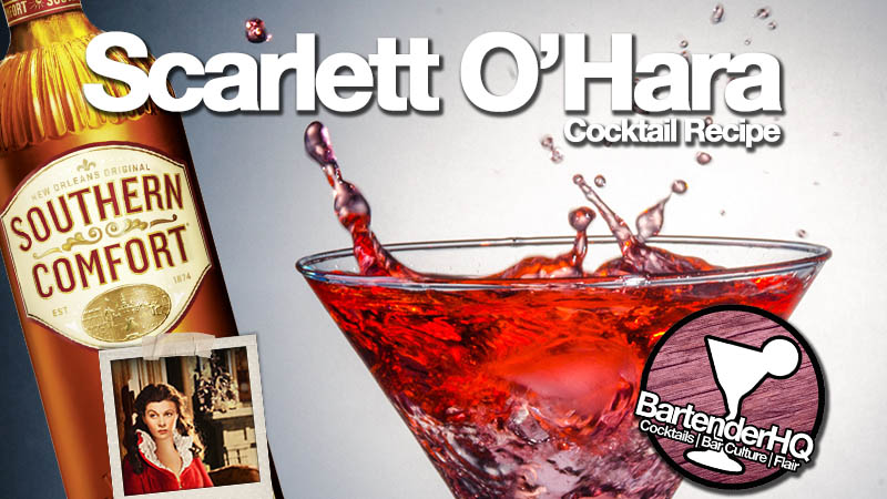 How to make a Scarlett O'Hara Cocktail | BartenderHQ Easy Sundays