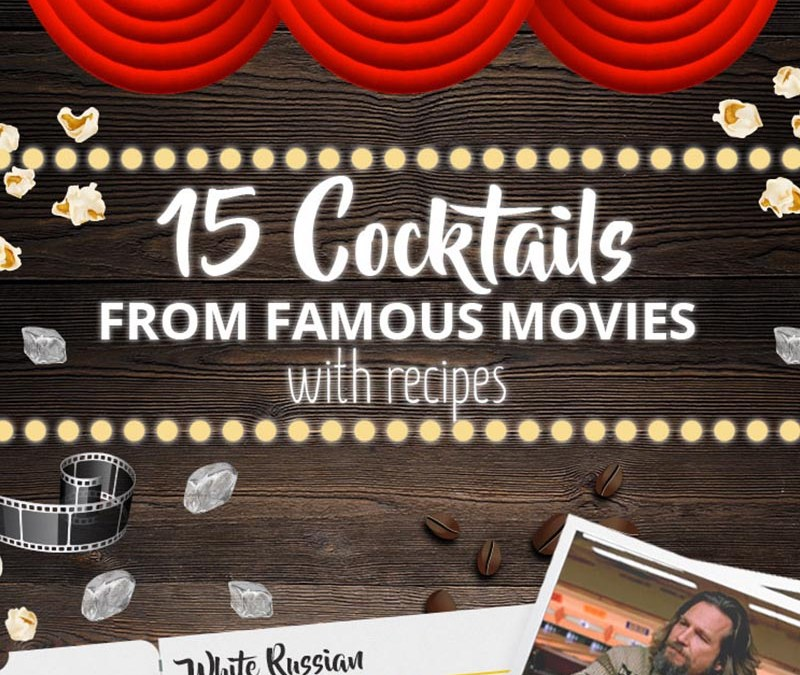 Cocktails of the Movies (infographic)