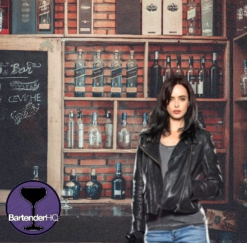 Jessica Jones Whiskey Hiball Cocktail