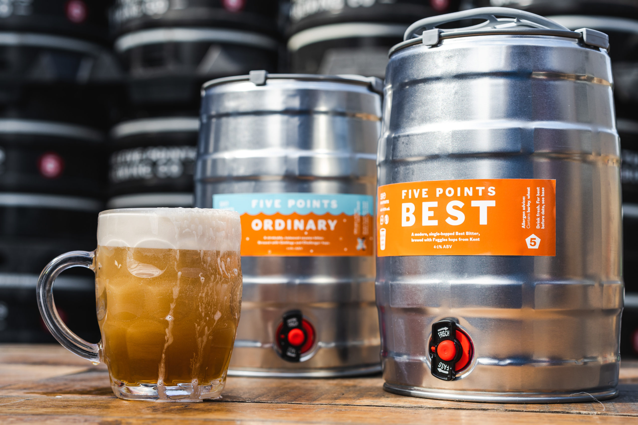 Five Points Brewery offers 5L mini casks for home landlords