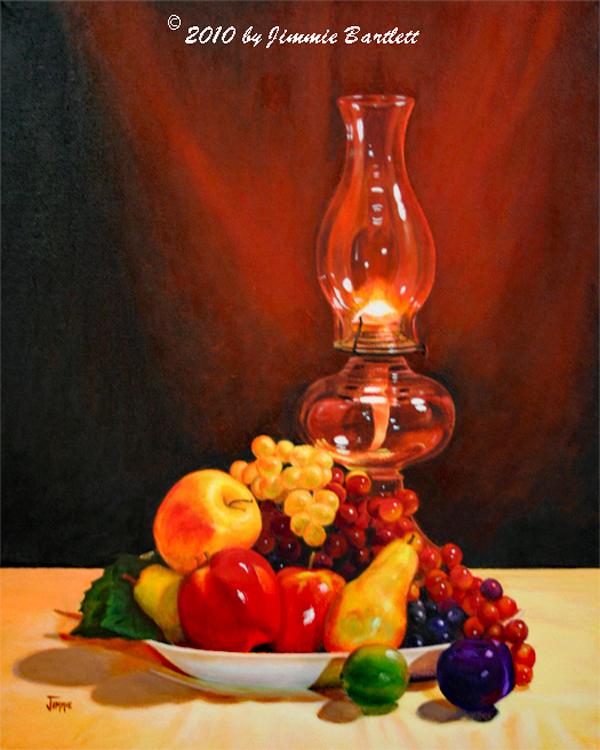 Fruit Under Lamplight