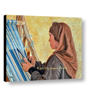 Girl at the Loom WEB canvas print