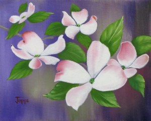 Pink Dogwoods Small by Jimmie Bartlett