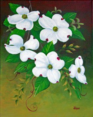 Bright Dogwood Flowers 16x20 prt DSC_5076