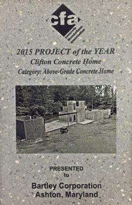 Award 2015 CFA Above Grade Concrete Home