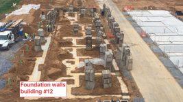 B05 Bartley EYA Montgomery Row Setting Concrete Walls