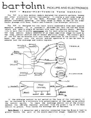 Wiring Diagrams  Bartolini Pickups & Electronics