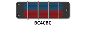 4String Classic Bass BC Soapbar  BC4CBC  Bartolini Pickups & Electronics