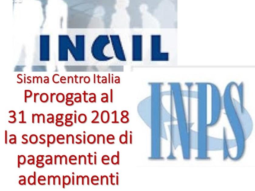 Sisma centro italia sospesi sino al 31 maggio 2018 for Scadenzario fiscale 2017