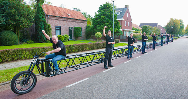 Barton Haynes Longest Bicycle Team