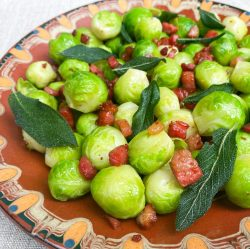 Brussels sprouts, pancetta, sage