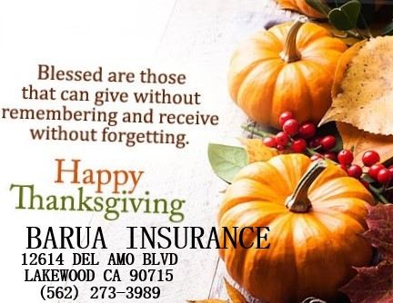 Happy Thanksgiving from Barua Insurance