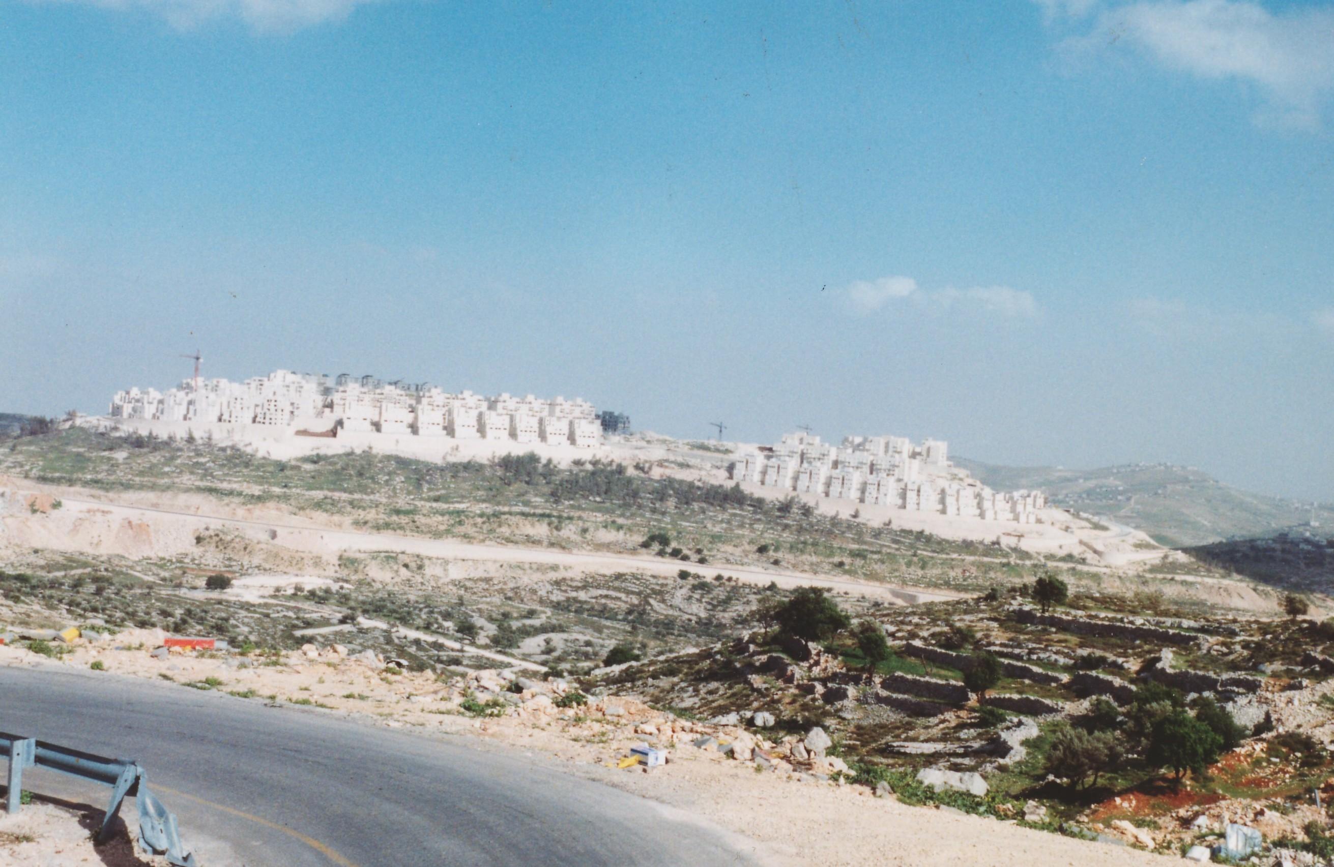 Foto di Valentina Perniciaro _Insediamento israeliano in West Bank_