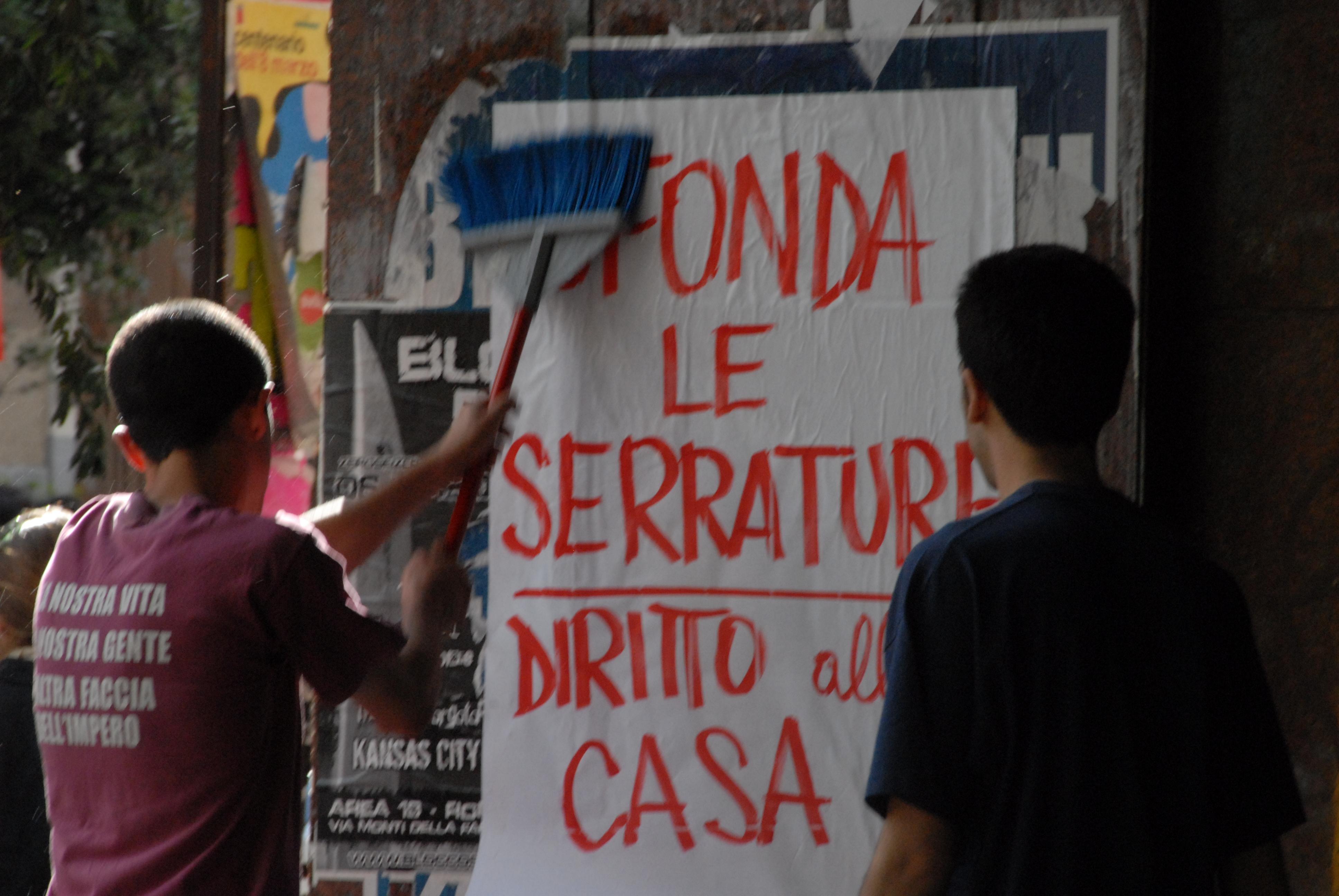 Foto di Valentina Perniciaro _Corteo cittadino per il diritto all'abitare e per la difesa degli spazi sociale, Giugno 2008_