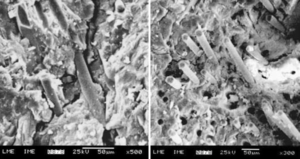 Fracture toughness of geopolymer concretes reinforced with basalt fibers