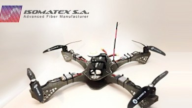 Photo of Belgium-based Isomatex presented drone made of basalt composite