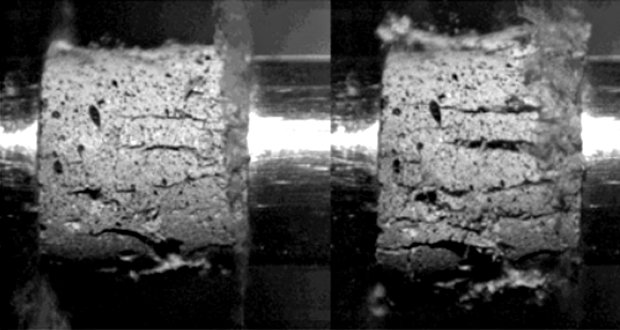 Comparative experimental study of dynamic compressive strength of mortar with glass and basalt fibres