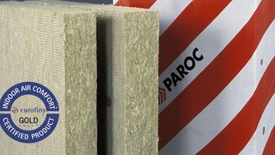 Photo of PAROC basalt insulation obtained European certification