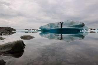 A big glacier lagoon.