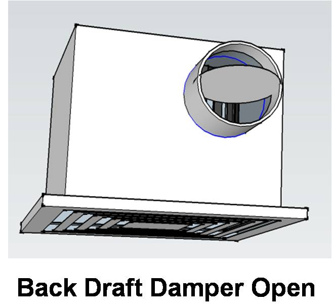 back draft dampers at shared common
