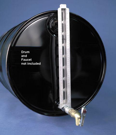 calibrated sight gauge for horizontal drums pvc valve