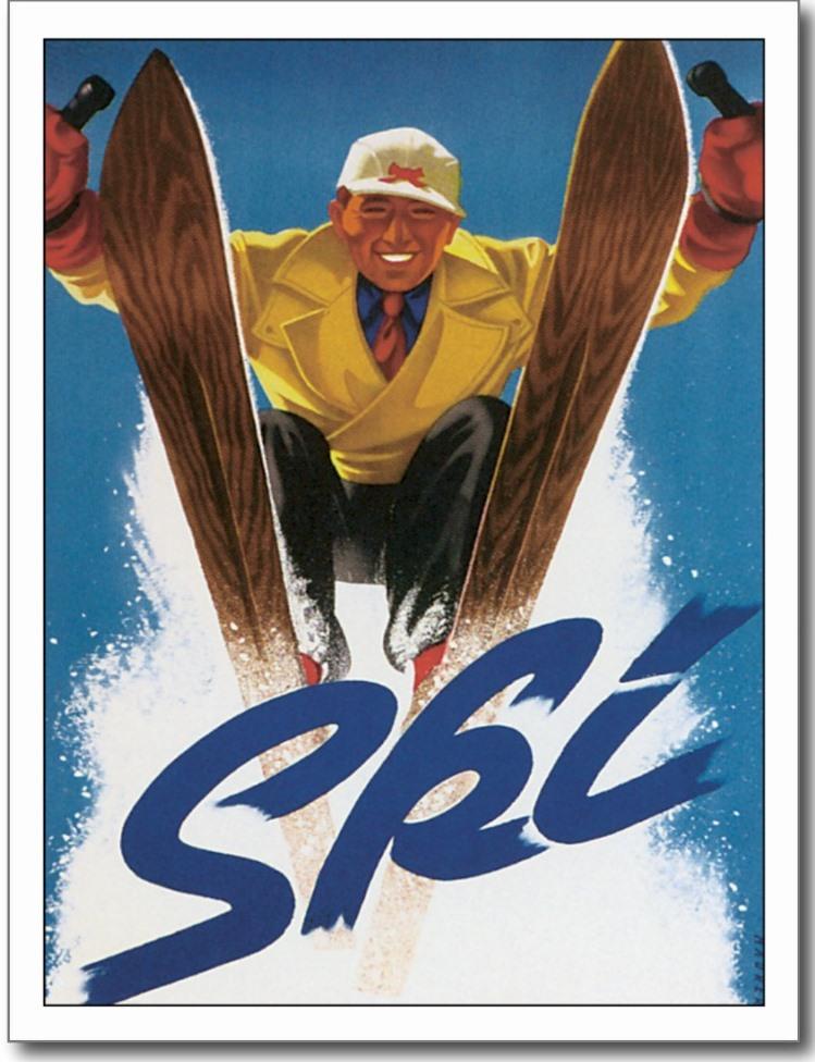 vintage ski