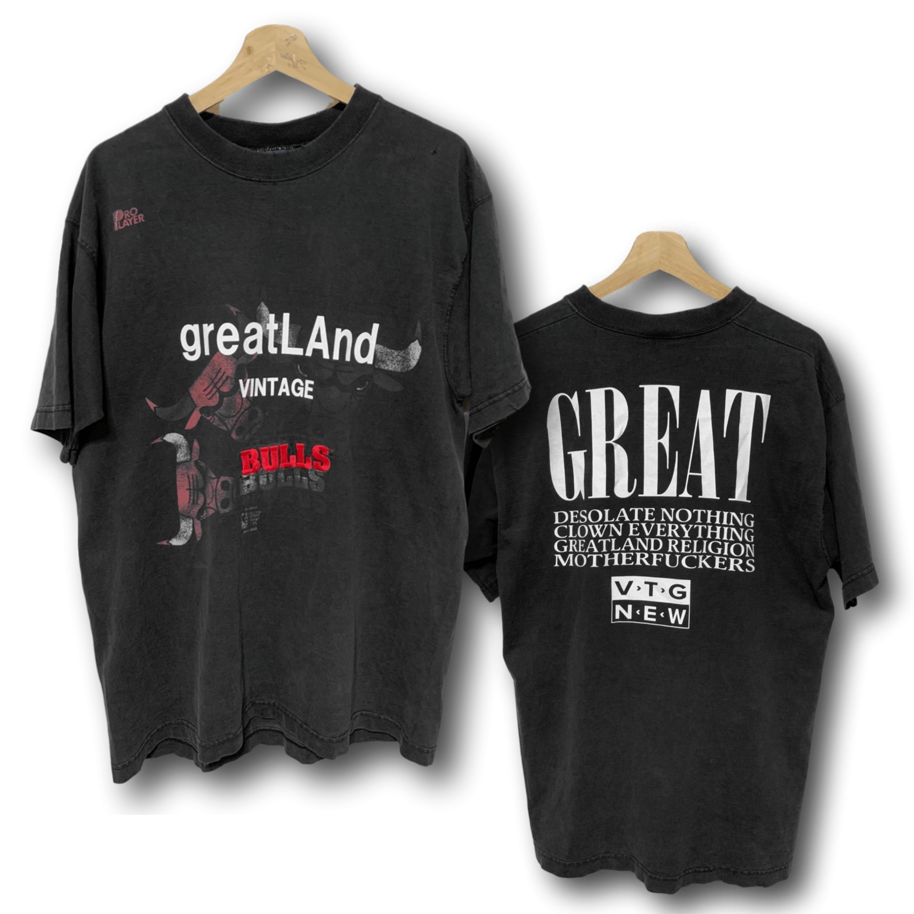 Greatland Vintage Chicago Bulls Shadow Embroidery Tee