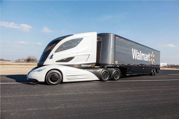 walmart tests truck of the future